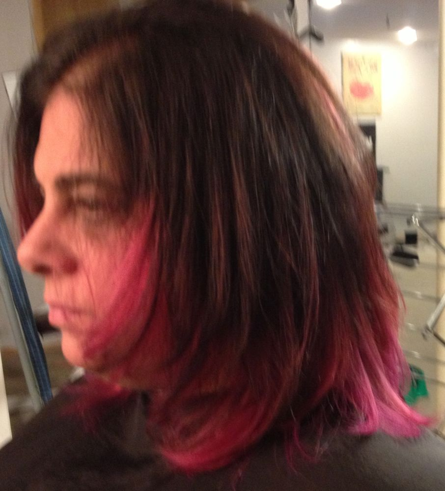 Short Hair Pink Ombre The Image Kid Has It