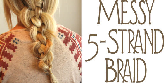 Braid Tutorial How To Do The Messy 5 Strand Braid Ask The Pro Stylist