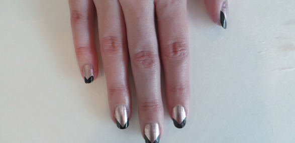 DIY Nail Designs for Prom: Gold and Black French Mani