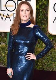 Julianne Moore Golden Globes Beauty Breakdown