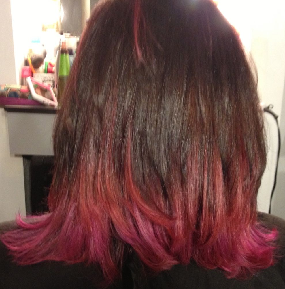 Pink Ombre Highlights Latest Hair Color Trend